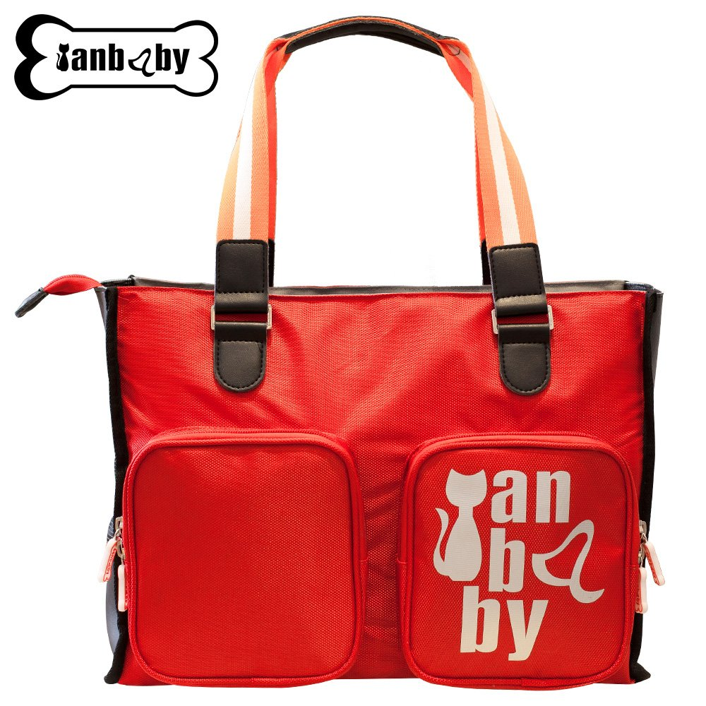RED YIAN BABY Breathable Cat Handbag, Foldable Pet Carrier Travel for Small or Medium Cat Breed with EVA Material Soft-Side Cover Handbag Puppy Carry Bag (RED)