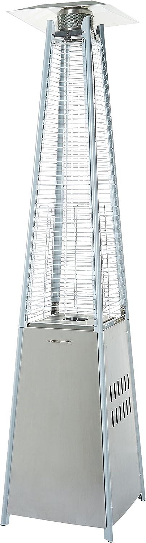 AmazonBasics Outdoor Pyramid Patio Heater, Stainless Steel