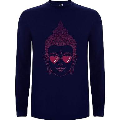Lilij Camiseta Hombre Manga Larga Buddha Love Eyes Spiritual ...