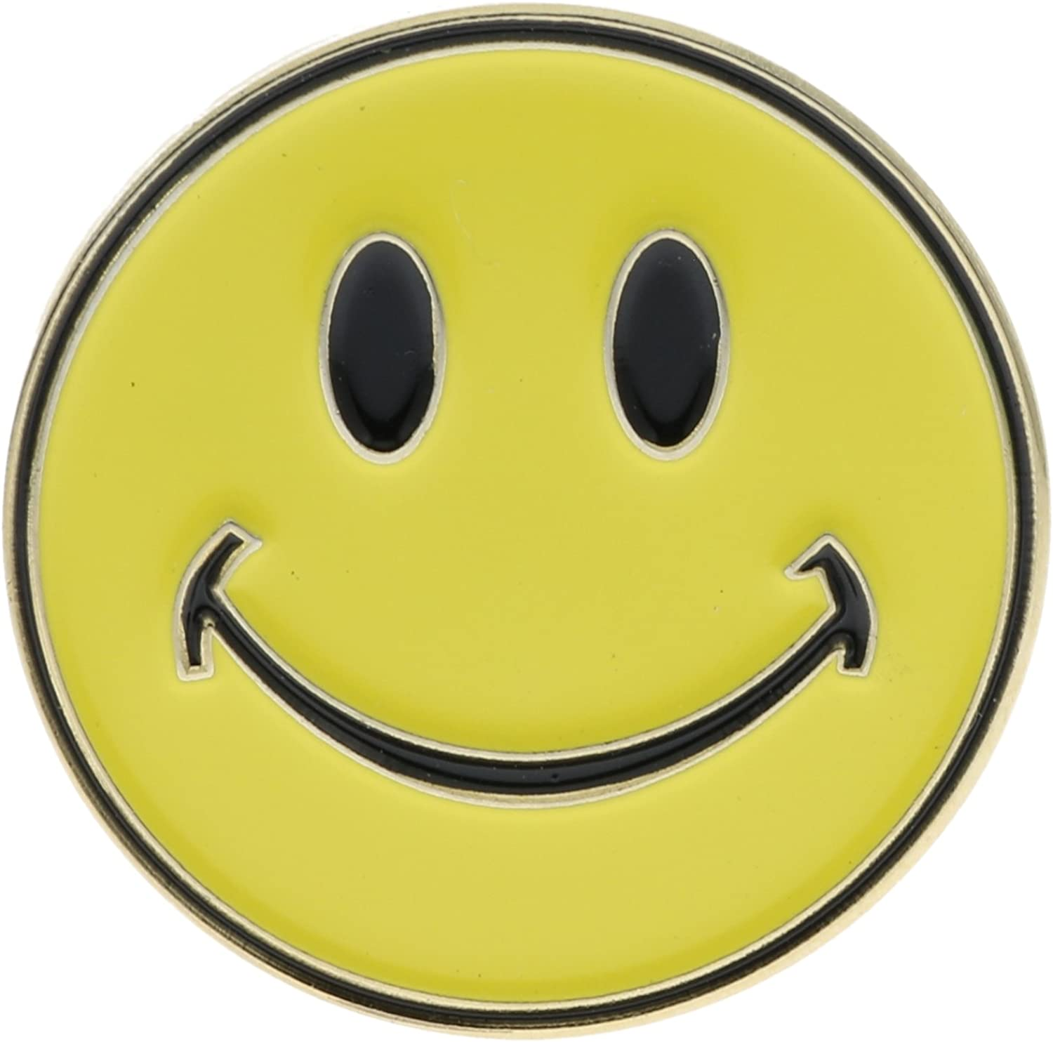 Yellow Hat or Lapel Pin AVAP0136 Sujak Military Items Smiley Face