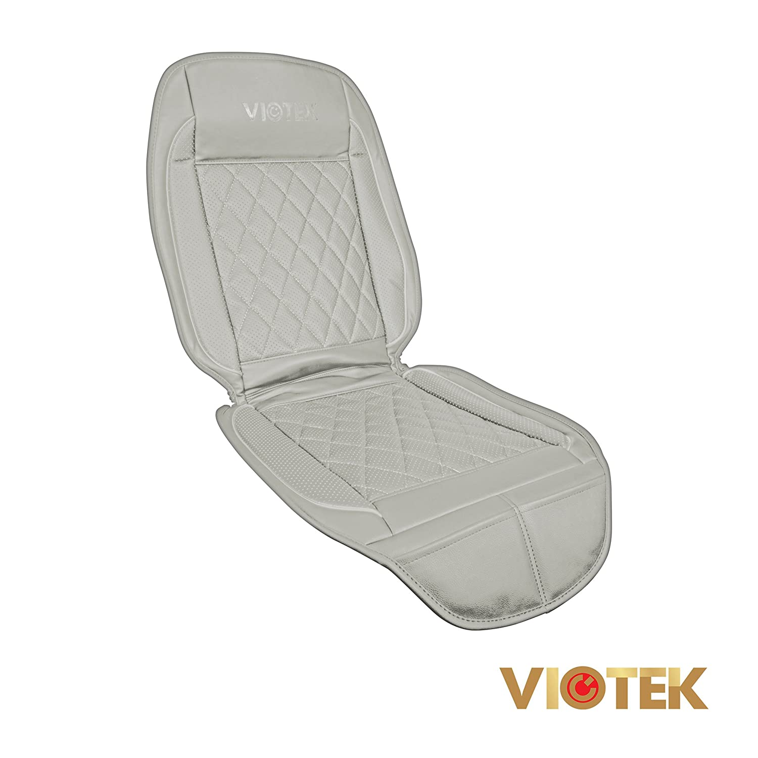 comfort heated cooled car seat cover with wireless remote grey ebay. Black Bedroom Furniture Sets. Home Design Ideas