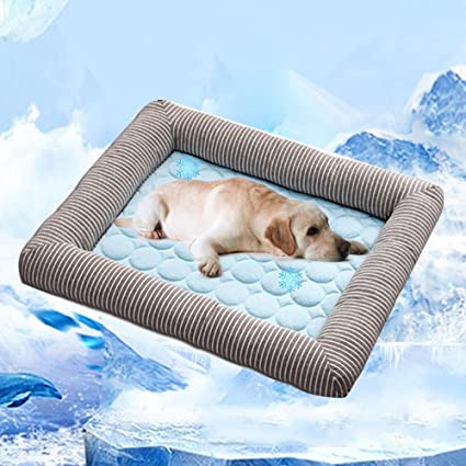 Aolvo Almohadilla de refrigeración/colcha/cama para perros y gatos, cama extra grande