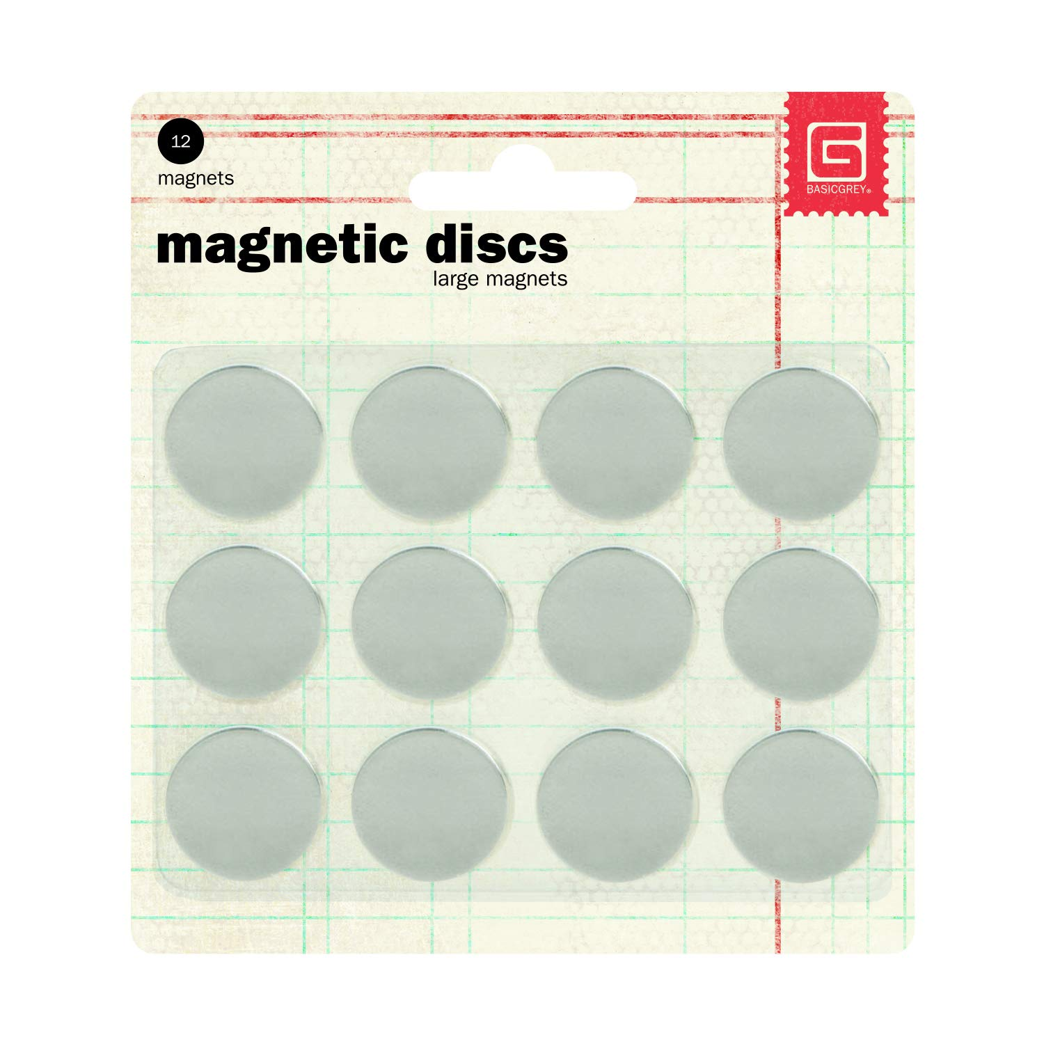 Basic Grey 5//8-Inch-by-1//32-Inch Magnetic Snaps Large.