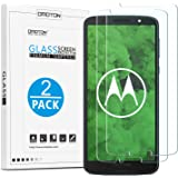 OMOTON [2 Pack] MOTO G6 Plus Screen Protector, [Scratch Resistant] [No Bubbles] [Easy Installation] [Crystal Clear] [High Sensitive] for Moto G6 Plus