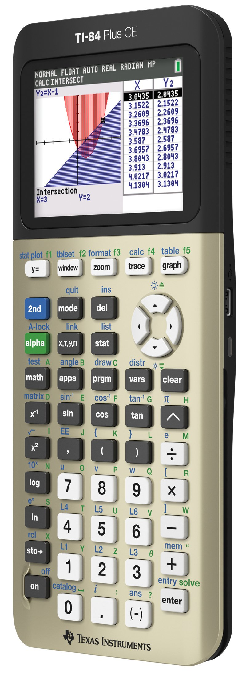 Texas Instruments TI84PLSCEGOLD TI-84 Plus CE Graphing Calculator, Gold by Texas Instruments (Image #3)