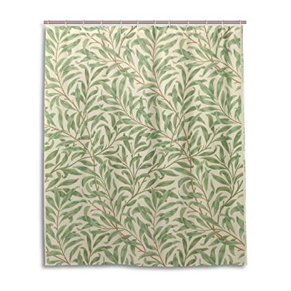 JSTEL Decor Shower Curtain William Morris Prints Pattern Print 100 Polyester Fabric 60