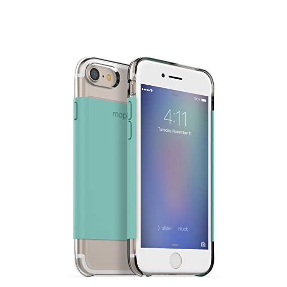 new arrival 0b8cf 23c5b mophie Hold Force wrap Base Case for Apple iPhone 8, iPhone 7 - Mint
