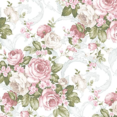 Norwall Ch22531 Grand Floral Wallpaper