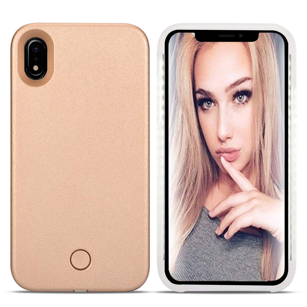 super popular ee575 af892 iPhone Xs MAX Led Case - LONHEO iPhone Xs MAX Illuminated Cell Phone Case  Great for a Bright Selfie and Facetime Light Up Case Cover for iPhone Xs  MAX ...
