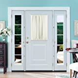 Deconovo French Door Panel Curtains Blackout Rod Pocket Curtains Darkening Drapes 54 inch by 40 inch Light Beige 1 Panel