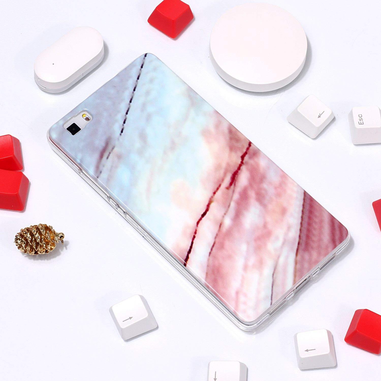 Felfy Kompatibel mit Huawei P8 Lite 2016 Marmor H/ülle,Ultra D/ünn Weich Gel TPU Silikon Handyh/ülle Silikonh/ülle Creative Marmor Muster Handytasche Kratzfest Sto/ßfest Schutzh/ülle Bumper Case Cover