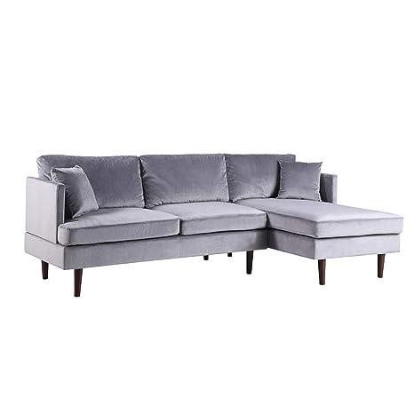 BHD Sofá de Esquina Moderno Extra-Large – Colores Diferentes – Tejido – 260 x 94 x 137 cm