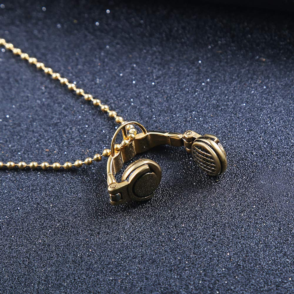 Davitu Islamic Chocker Necklace Hippie Stainless Steel Gold Color Summer Red Men Drop Shopping Fashion Jewelry Metal Color: Gold-Color, Length: 50cm