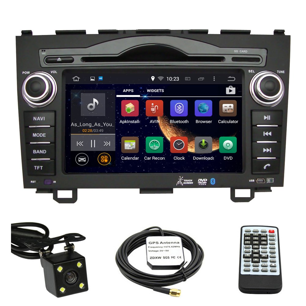 Amazon.com: Car Stereo DVD Player for Honda CRV 2007 2008 2009 2010 2011  Double Din 7 Inch Touch Screen TFT LCD Monitor In-dash DVD Video Receiver  Car GPS ...