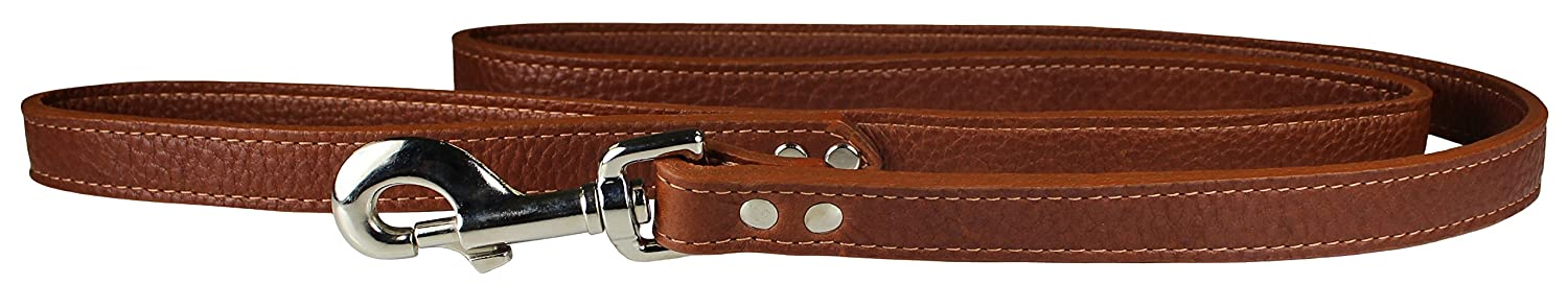 OmniPet 6274-TB Luxe Leather Dog Leash, Tobacco