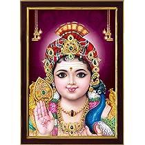 SAF Lord Murugan Swamy Kartikey SAFR6592 Sparkle Coated Digital Print Painting (13.25 inch x 9.25 inch)