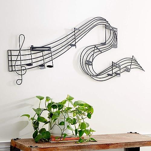 Deco 79 90592 Music-Themed Wall Decor