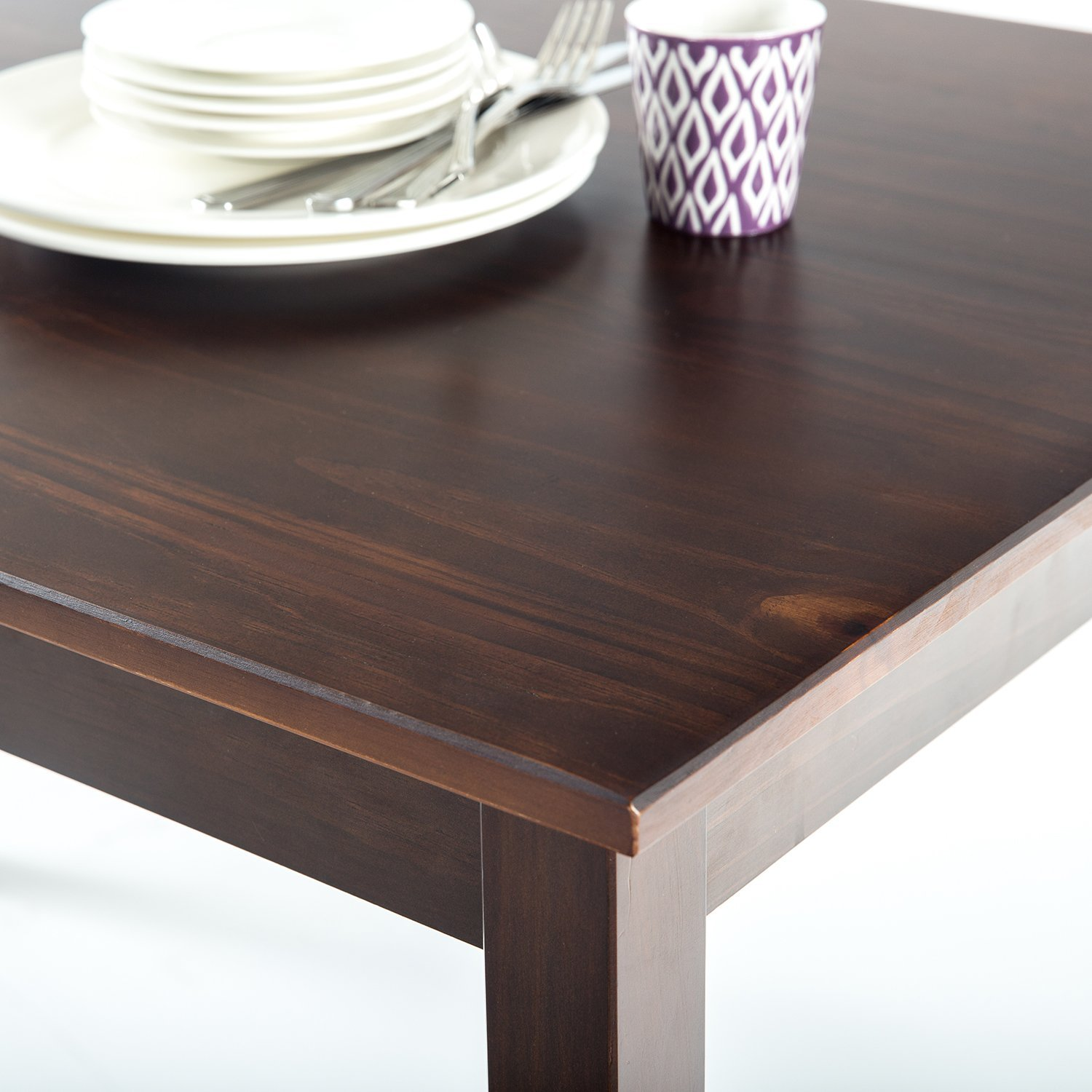 Zinus Espresso Wood Dining Table/Table Only by Zinus (Image #5)