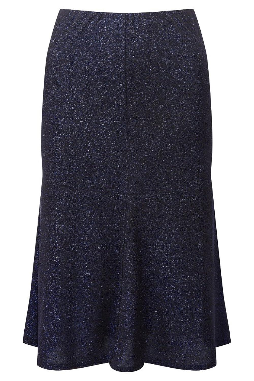 Lavitta - Women's - Cobalt Blue Glitter Flippy Pull On Skirt - 12-24 - Plus Size