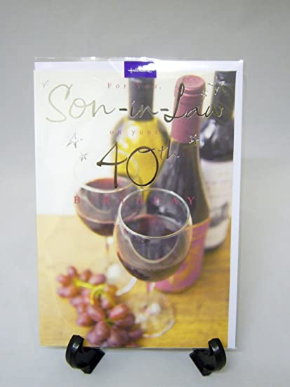 Amazon Hallmark 40 Today Son In Law Age 40th Birthday Greeting