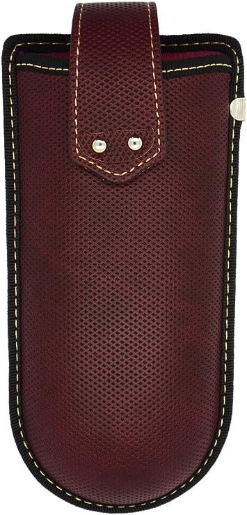 Funda de gafas para el cinturón con clip y correa de velcro azul azul M: Amazon.es: Salud y cuidado personal