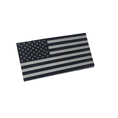 """2x1"""" Black/White American Made 3m Reflective American US Patriotic Flag Sticker Durable USA Decal: Arts, Crafts & Sewing"""