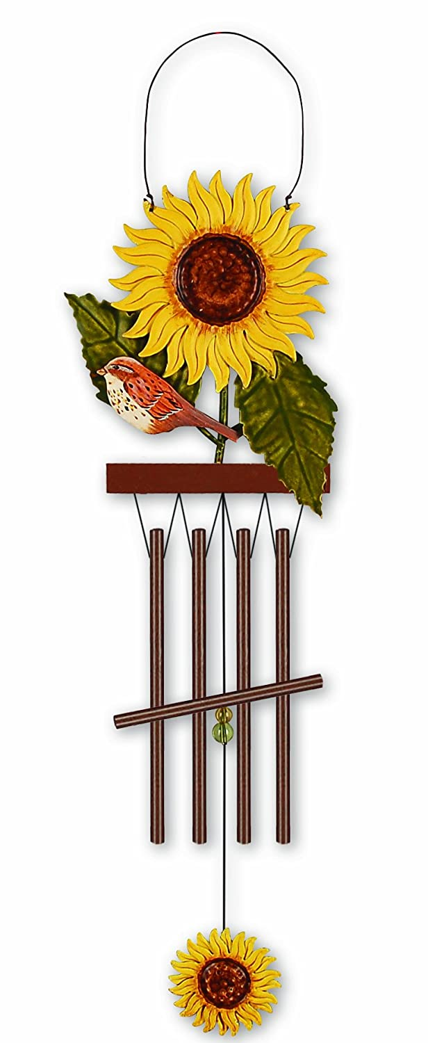 Sunset Vista Birds Of A Feather Sunflower Wind Chime, 15-3/4-Inch Long