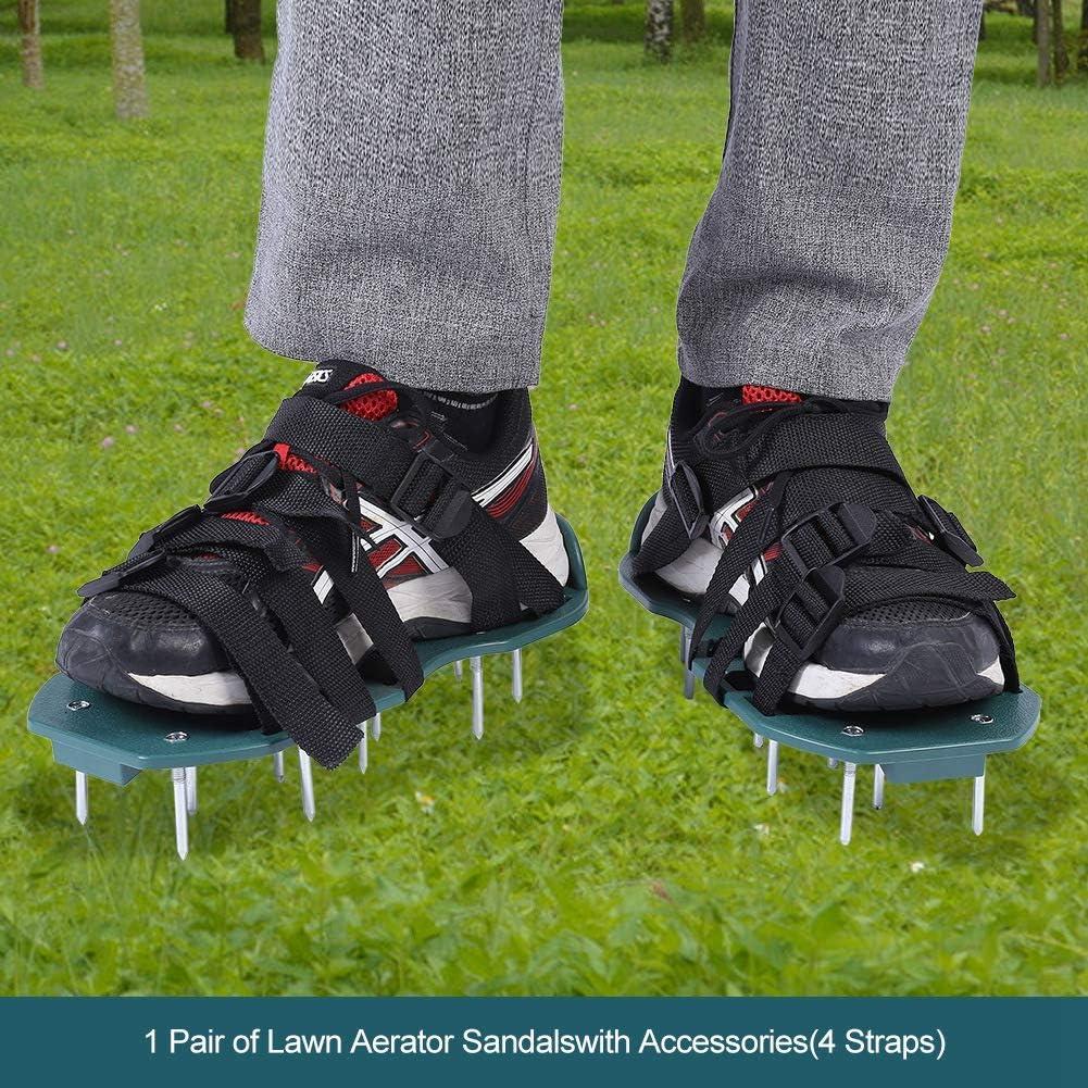 1 Paio di Prato Inglese Sandali Aeratore Suolo allentamento Aeratore Scarpe a Spillo Strumento da Giardinaggio 3 Regun Aeratore Sandals Suolo