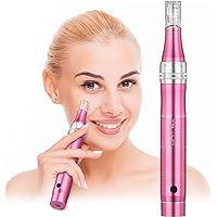 TBPHP Derma Roller Elektrische Micronadeln Pen 0.25mm-2.0mm Anti Cellulite Falten Akne Narben incl. 2x Aufsatz mit 12 Micronadeln(Wiederaufladbar)
