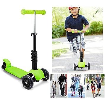 oldhorse Niños Scooter Patinete – Patinete 3 ruedas Mini Niños Scooter con asiento extraíble y brazo