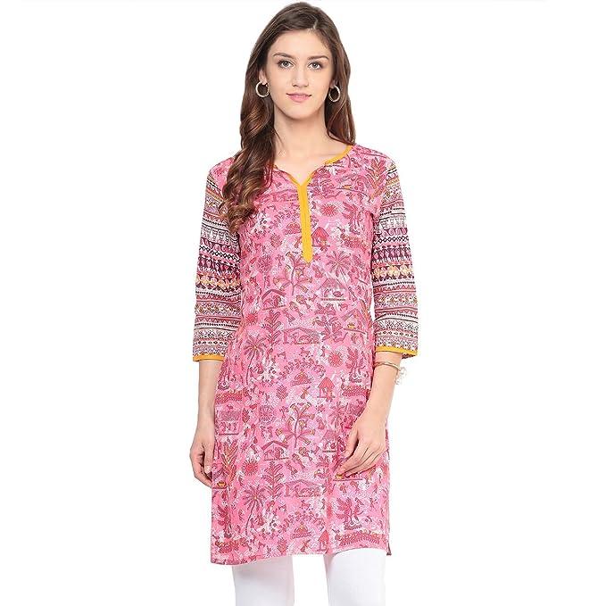31df18b333a Rangmanch By Pantaloons Women s A-Line Kurta (205000005589074 Pink M)