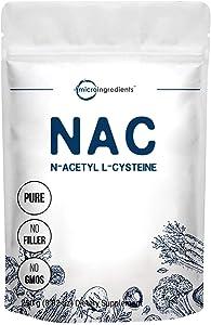 Micro Ingredients Pure N-Acetyl L-Cysteine Powder (NAC Supplements), 250 Gram, Non-GMO and Vegan