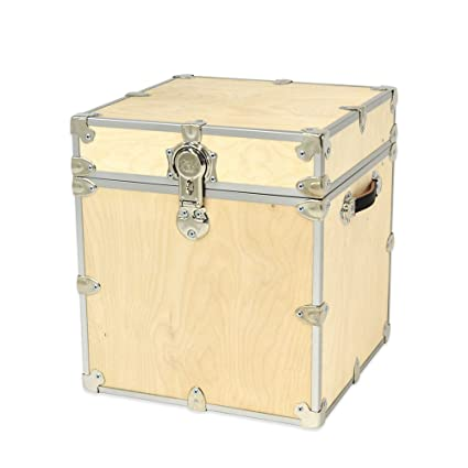 20u0026quot; Baltic Birch Unfinished Wooden Cube Storage Trunk