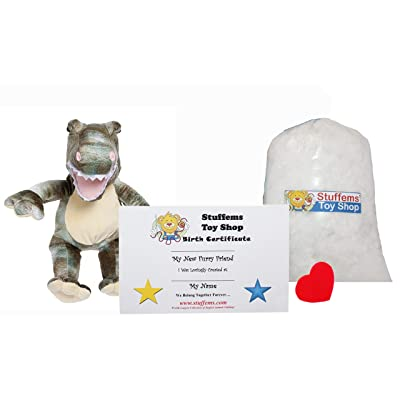 Make Your Own Stuffed Animal Mini 8 Inch Dyno Dinosaur Kit - No Sewing Required!: Toys & Games