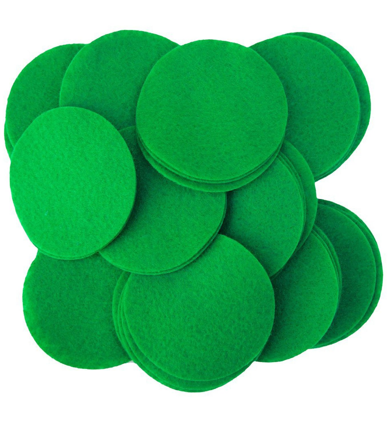 Playfully Ever After 3 Inch Green 30pc Felt Circles