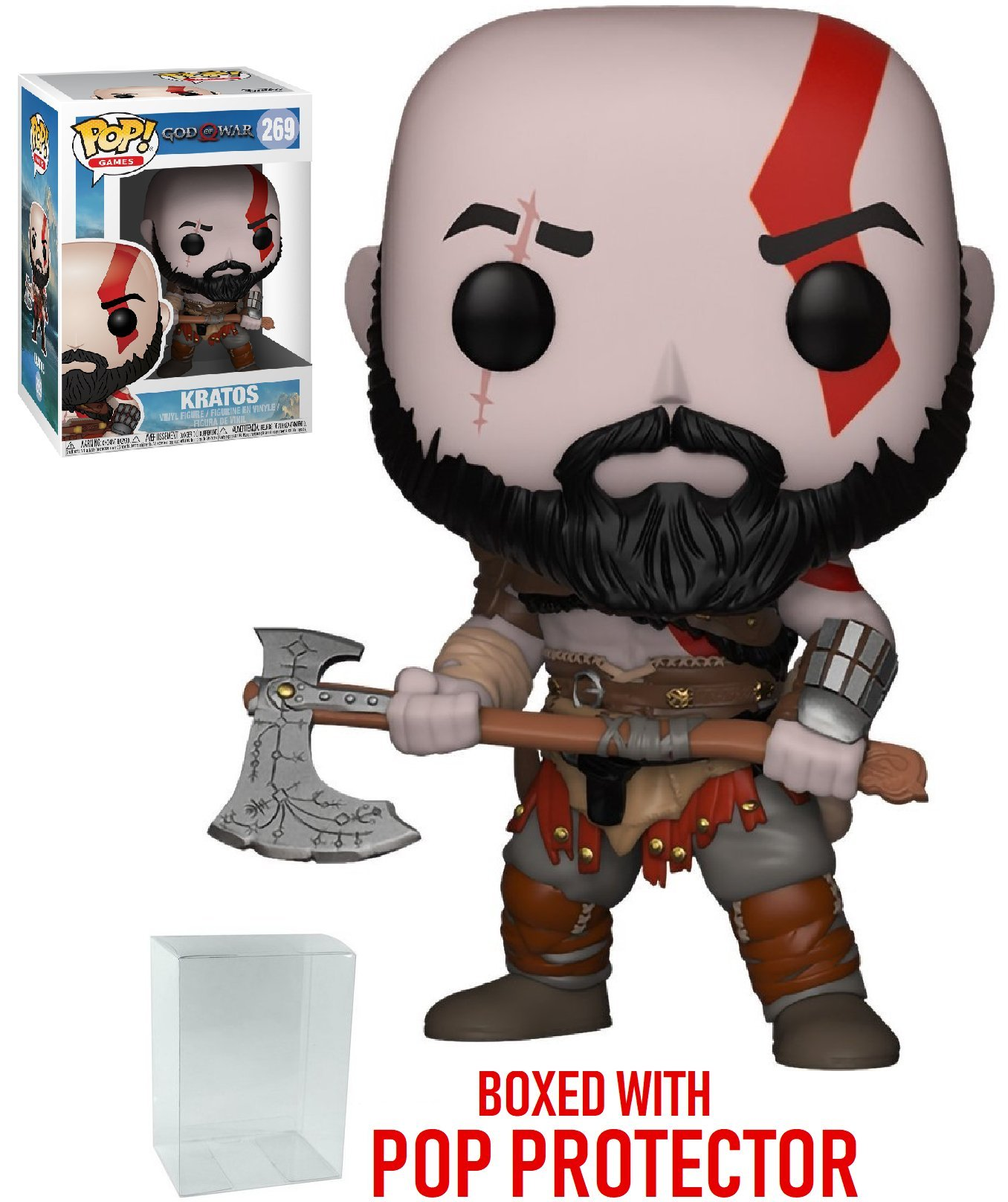 Funko Pop Games God of War-Kratos with Axe Collectible Figure