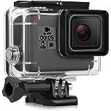iTrunk Custodia Protettiva Impermeabile per GoPro Hero 2018 Hero 6 hero 5 Black Action Camera, Con Supporto Tripode e Vite di Fissaggio