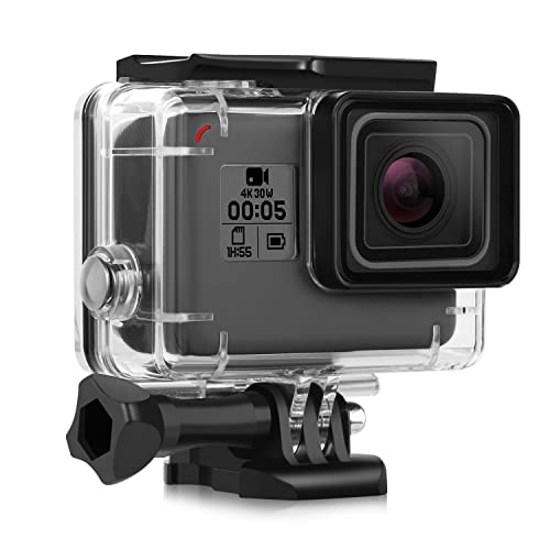 iTrunk Waterproof Protective Housing Case for GoPro Hero 2018 Hero 6 Hero 5 Go Pro Hero6 Hero5 Black Action Camera with Quick Release Bracket & Thumbscrew