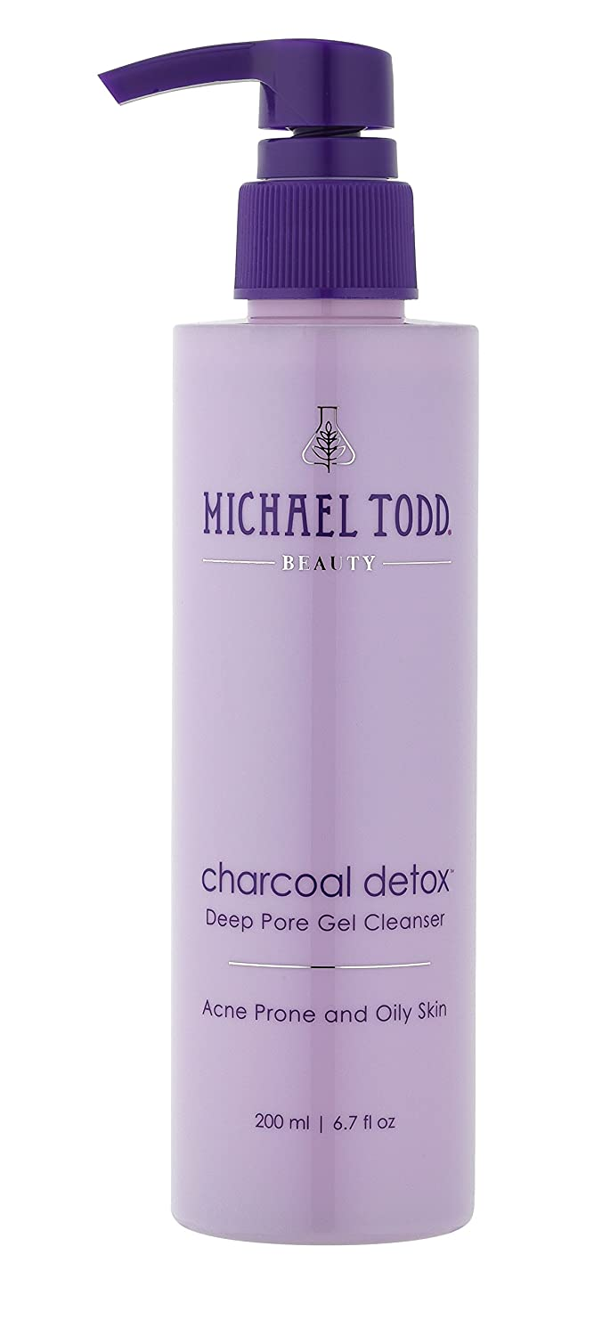 Michael Todd Charcoal Detox Deep Pore Gel Cleanser, Formulated with Highly Absorbent Activated Charcoal, Tea Tree and Botanical Extracts, 6.7 Fl Oz