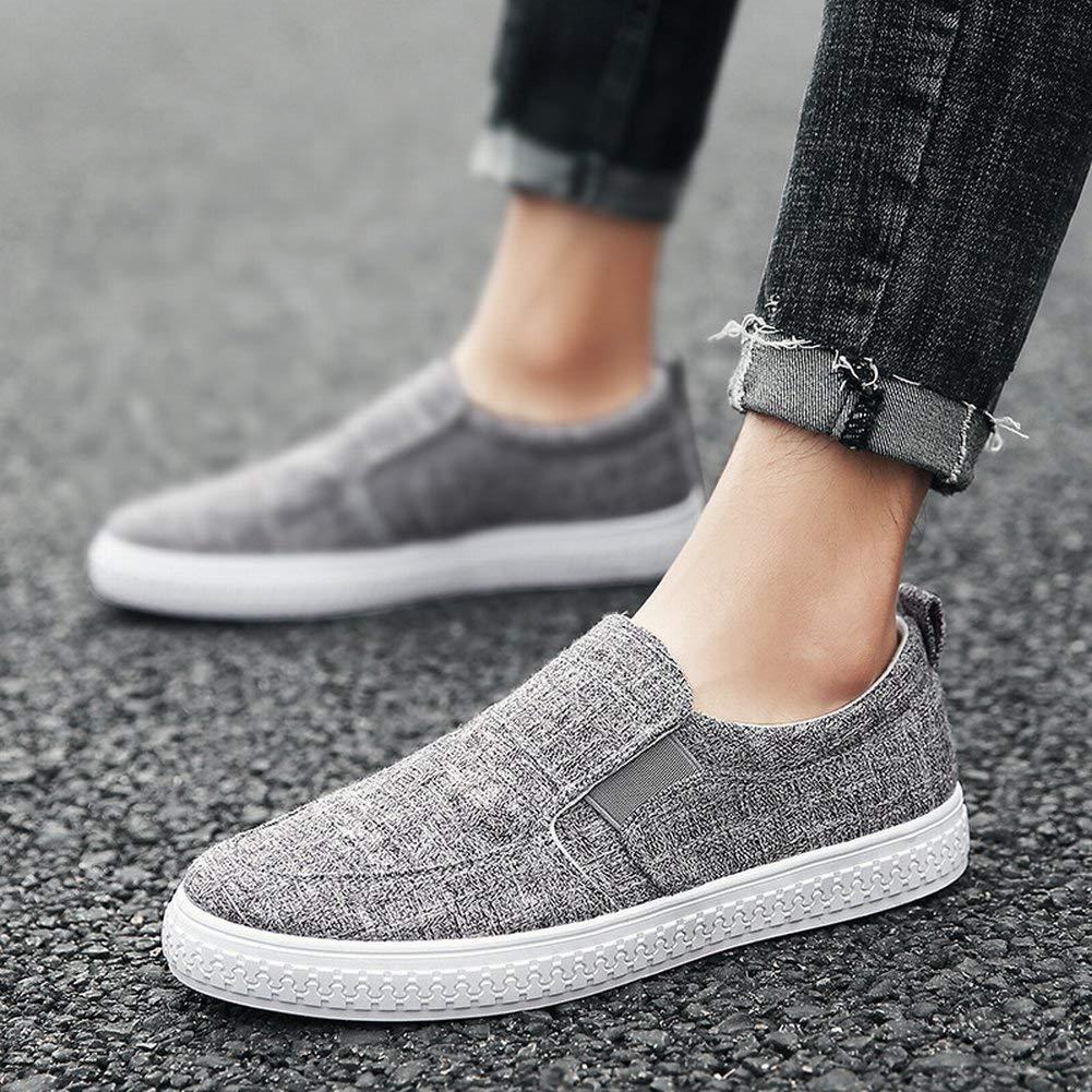 HhGold Arbeiten Sie Beiläufige Schuhe Bequeme Leinenpedal Faule Schuhe Alle Alle Alle Spielabnutzungs-Männer Schuhe um (Farbe   Dunkelgrau, Größe   44) 5dde61