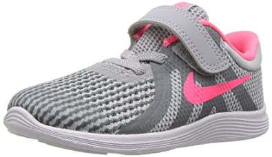 5cc1a171ff Nike Girls' Revolution 4 (TDV) Running Shoe, Wolf Racer Pink-Cool