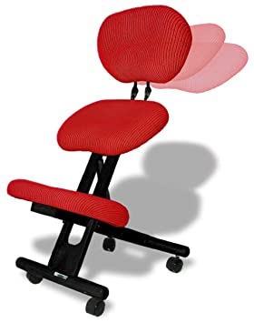 Cinius Silla ergonómica Profesional Color Negro/Rojo con Respaldo: Amazon.es: Hogar
