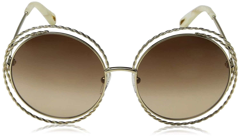 02119554bd Amazon.com  Chloe Women s Carlina Torsade - CE114STL Gold Gradient Brown  Lens One Size  Clothing