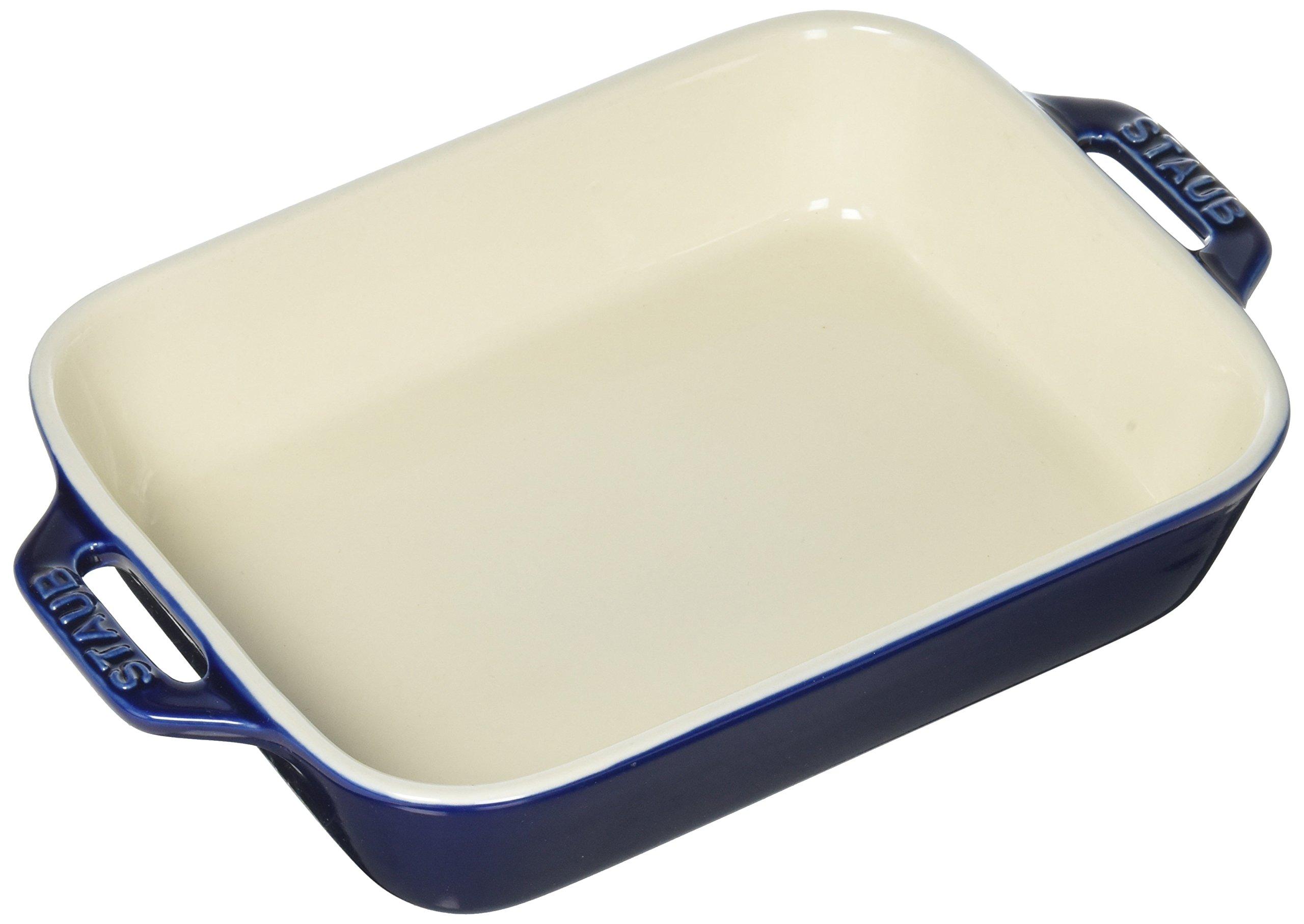 Staub 40508-587 Ceramics Rectangular Baking Dish, 7.5x6-inch, Dark Blue