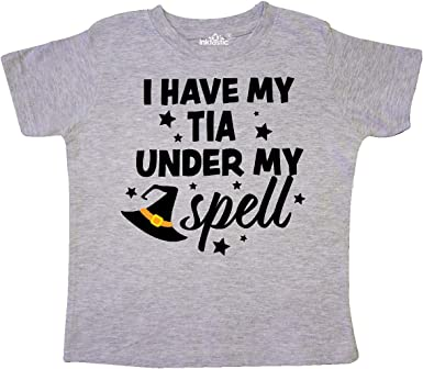 inktastic I Have My Great Aunt Under My Spell with Cute Witch Hat Baby T-Shirt