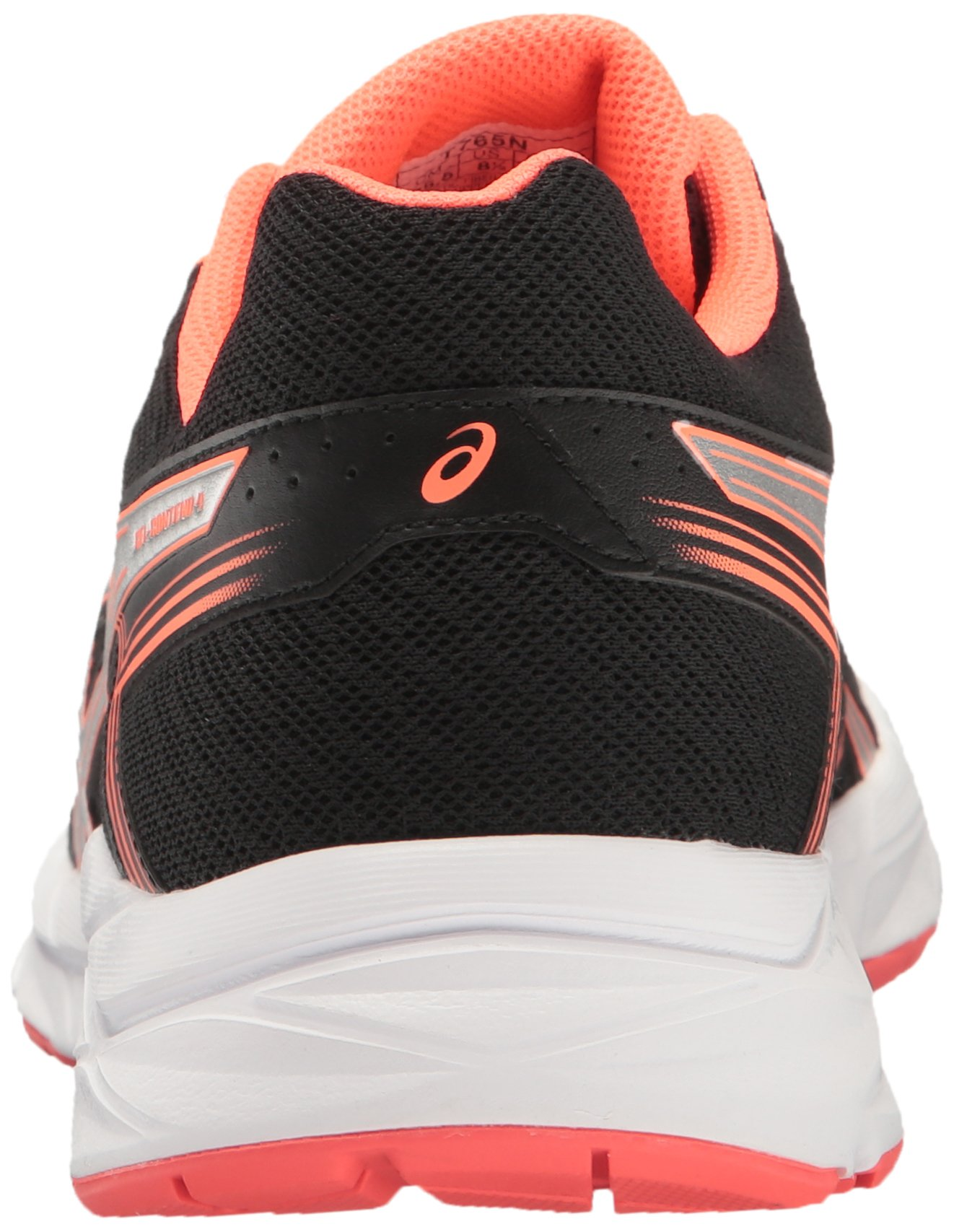 ASICS Women's Gel-Contend 4 Running Shoe, Black/Silver/Flash Coral, 5 M US by ASICS (Image #2)