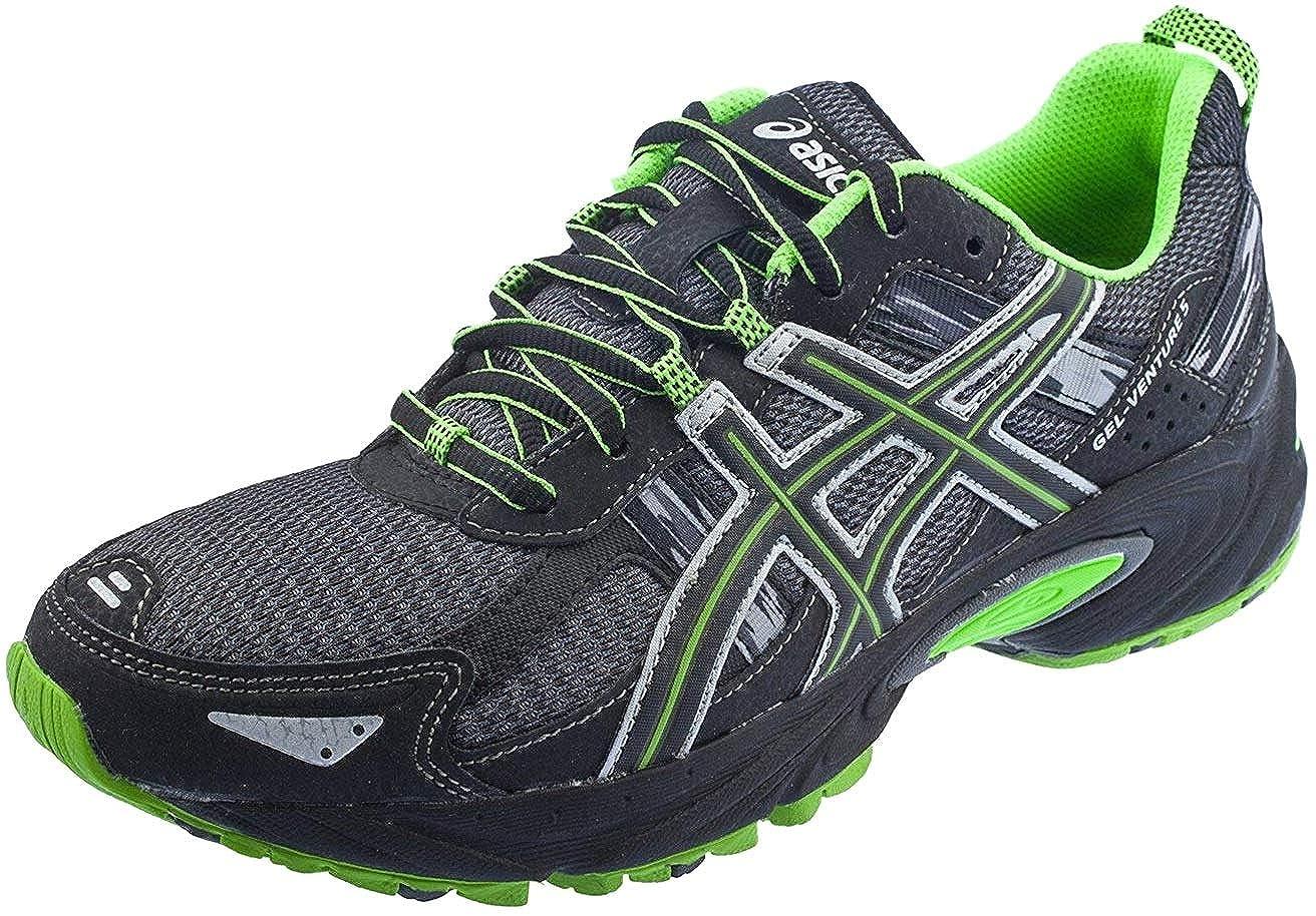 Castle Rock Black Green ASICS Men's Gel Venture 5 Running shoes