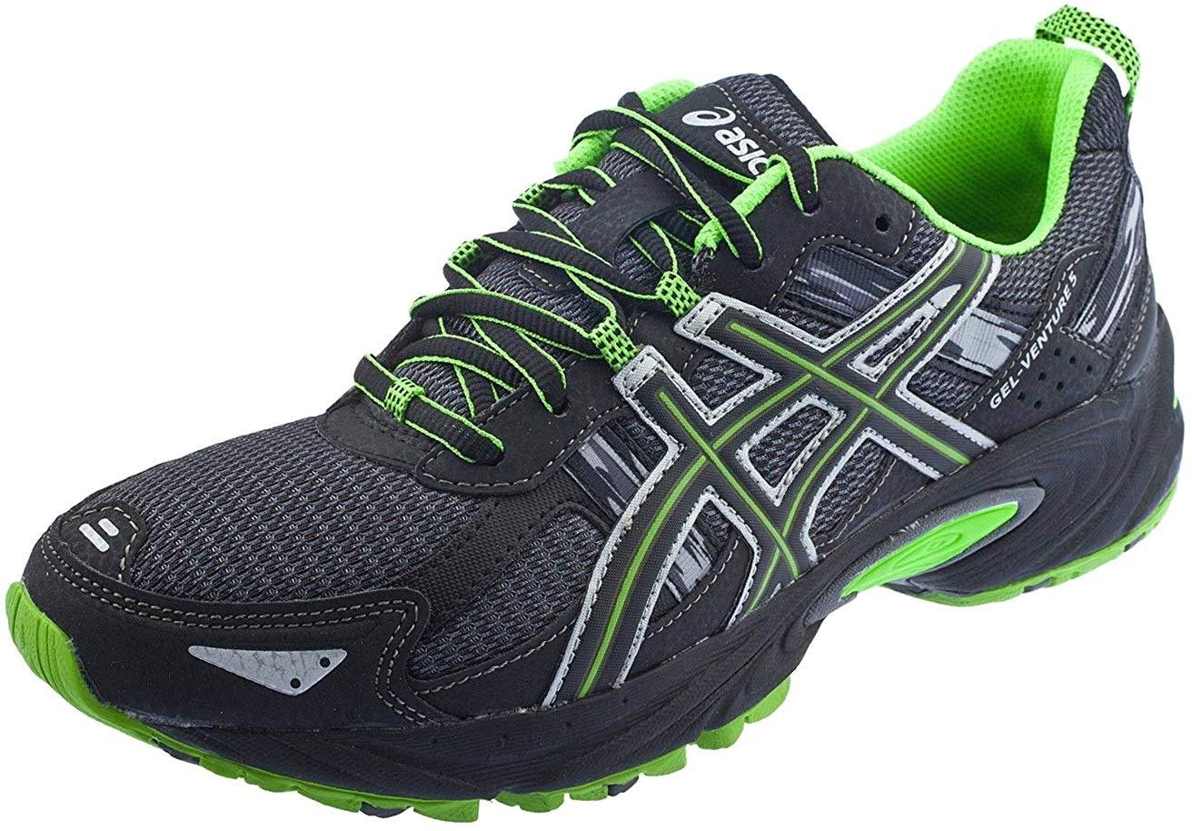 ASICS Men's Gel Venture 5 Running Shoe (8 D(M) US, Castle Rock/Black/Green)