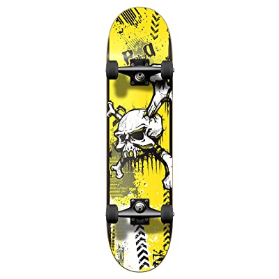 """Yocaher Graphic Complete Skateboard 7.75"""" Skateboards - YSKULL : Sports & Outdoors"""