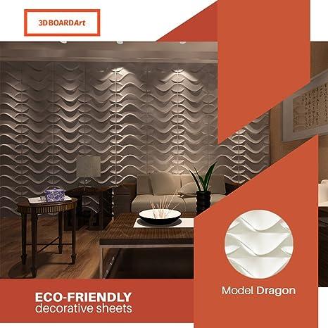 Amazon Com 3d Board Art Decorative Wall Panels Pack Of 32 Square